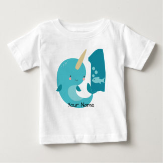 Narwhal 1st Birthday Baby T-Shirt