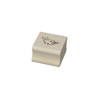 Narwhal 2 rubber stamp