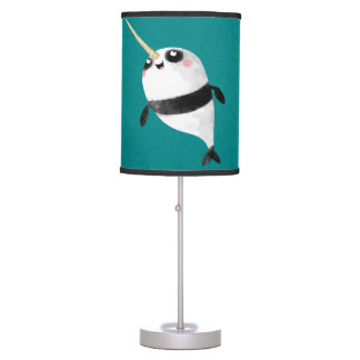 Narwhal and Panda in One Table Lamp