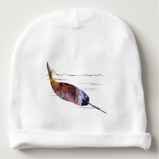 Narwhal Art Baby Beanie