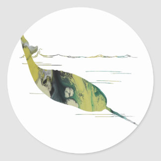 Narwhal Art Classic Round Sticker