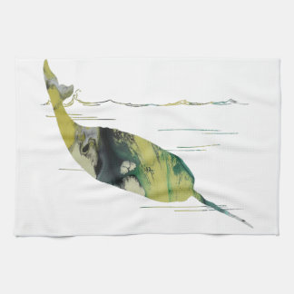 Narwhal Art Kitchen Towel
