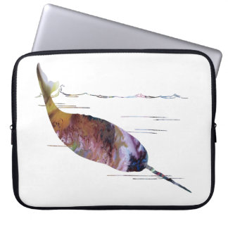 Narwhal Art Laptop Sleeve