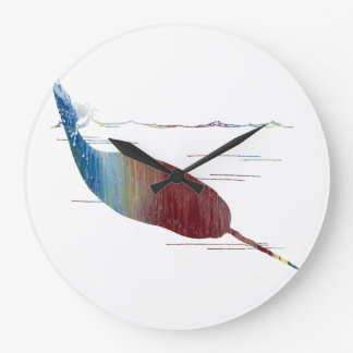 Narwhal Art Large Clock
