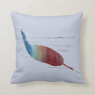 Narwhal Art Throw Pillow
