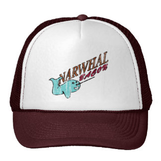 Narwhal Bacon Retro Logo Trucker Hat