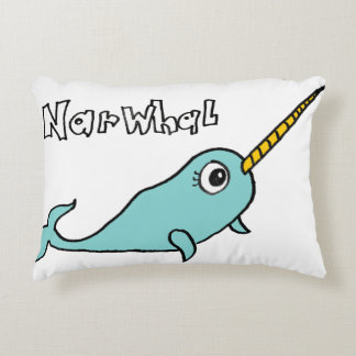 NARWHAL DECORATIVE PILLOW