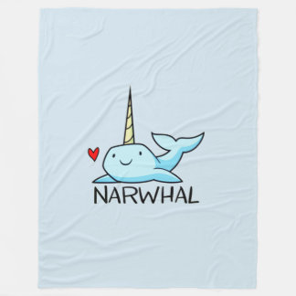 Narwhal Fleece Blanket