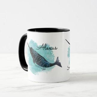 Narwhal Heart Mug