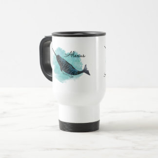 Narwhal Heart Travel Mug