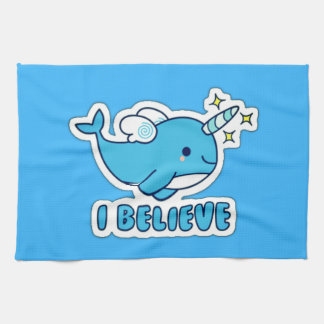 Narwhal I Believe Kitchen Towel