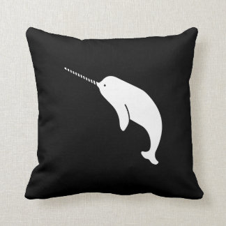 Narwhal Pictogram Throw Pillow