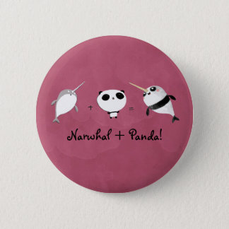 Narwhal plus Panda! 2 Inch Round Button