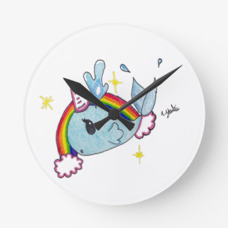 narwhal round clock
