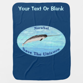 Narwhal - Save The Unicorn Swaddle Blanket