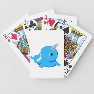 Narwhal snowball fight! bicycle playing cards
