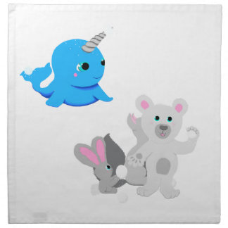 Narwhal snowball fight! napkin