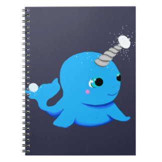 Narwhal snowball fight! spiral notebook