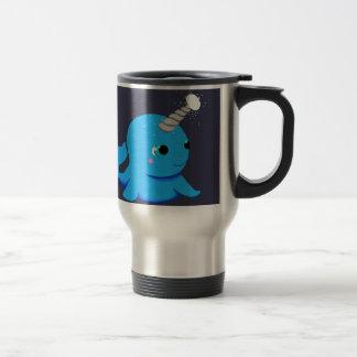 Narwhal snowball fight! travel mug