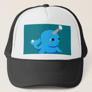 Narwhal snowball fight! trucker hat