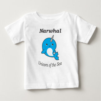 Narwhal Unicorn of the Sea for Boys and Girls Baby T-Shirt
