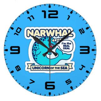 Narwhal Unicorn Of The Sea Wall Clock