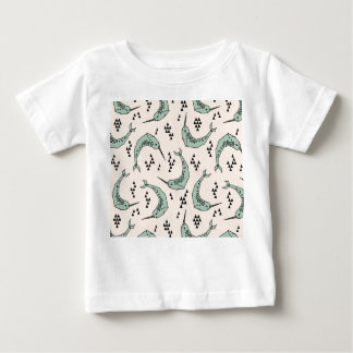 Narwhal - Whale Champagne Blue / Andrea Lauren Baby T-Shirt