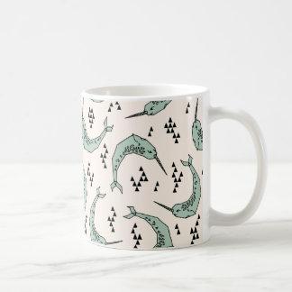 Narwhal - Whale Champagne Blue / Andrea Lauren Coffee Mug