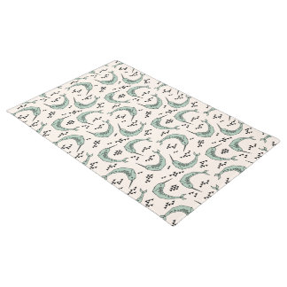 Narwhal - Whale Champagne Blue / Andrea Lauren Doormat