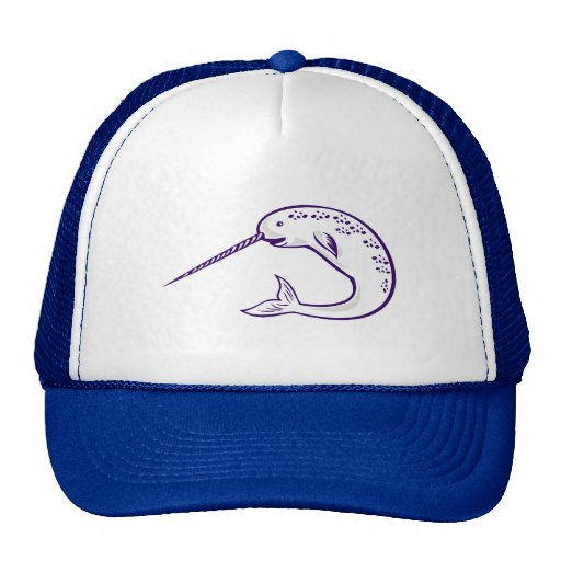 narwhal whale mesh hats