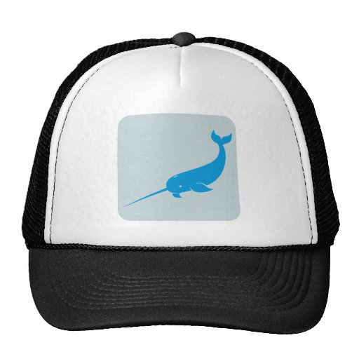 Narwhal Whale Icon Trucker Hats