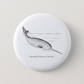 Narwhal Whale Unicorn of the Sea 2 Inch Round Button
