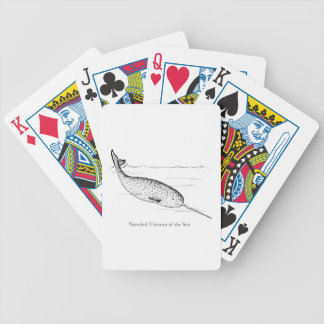 Narwhal Whale Unicorn of the Sea Bicycle Playing Cards