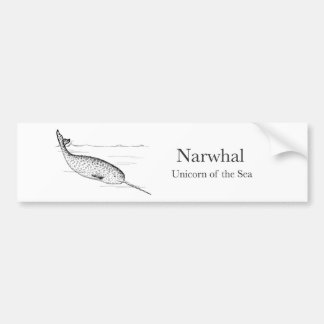 Narwhal Whale Unicorn of the Sea Bumper Sticker