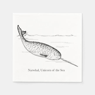 Narwhal Whale Unicorn of the Sea Disposable Napkin