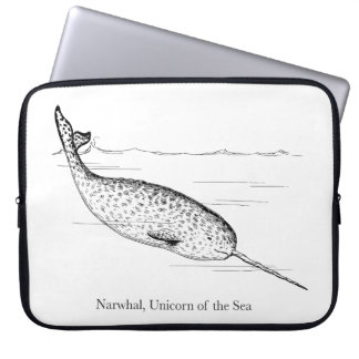 Narwhal Whale Unicorn of the Sea Laptop Sleeve
