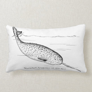 Narwhal Whale Unicorn of the Sea Lumbar Pillow