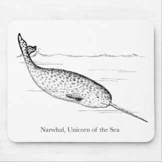 Narwhal Whale Unicorn of the Sea Mouse Pad