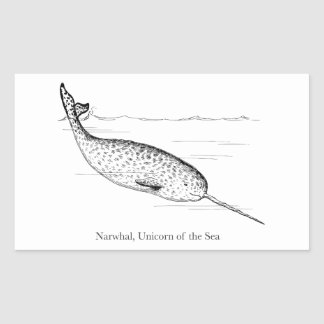 Narwhal Whale Unicorn of the Sea Sticker