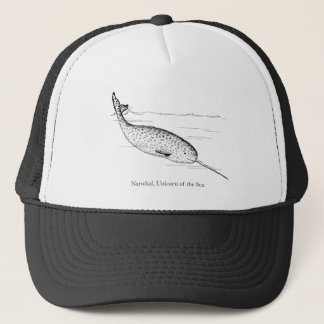 Narwhal Whale Unicorn of the Sea Trucker Hat