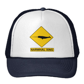Narwhal X-ing Sign Trucker Hat