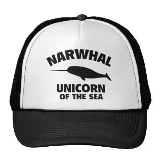 Narwhale Unicorn Of The Sea Mesh Hat