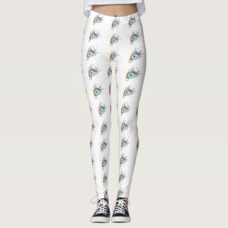 Narwhals and rainbows leggings