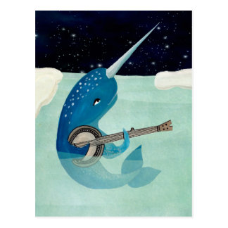 Narwhal's Aquarelle - Narwhal Plays Banjo Card