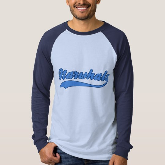 Narwhals Faux Baseball Jersey T-Shirt