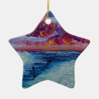 Narwhals in the Arctic Ceramic Star Ornament