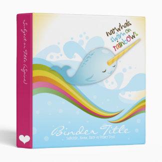 Narwhals Swim on Rainbows Binder