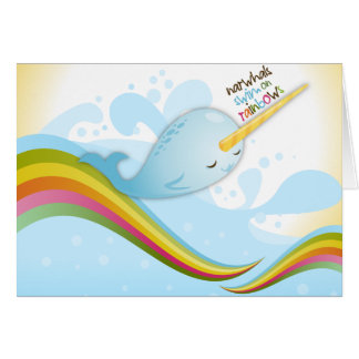 Narwhals Swim on Rainbows Card