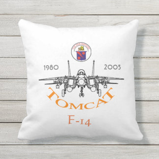 NAS Oceana - F-14 Tomcat  -  VF-11 Red Rippers Throw Pillow