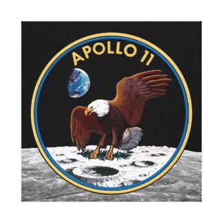 NASA Apollo 11 Moon Landing Lunar Patch Insignia Canvas Print